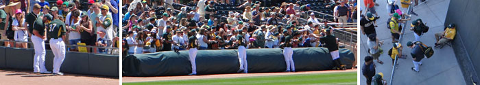 A's autographs at Mesa's Hohokam Stadium