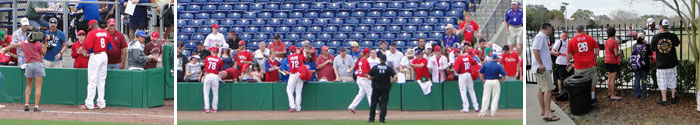 Phillies autographs at Bright House Field