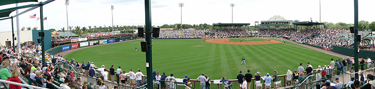 McKechnie Field, as seen from its new outfield seating in 2013