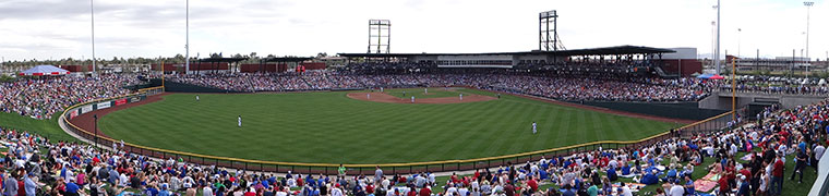 Cubs spring training stadium during its debut season of 2014