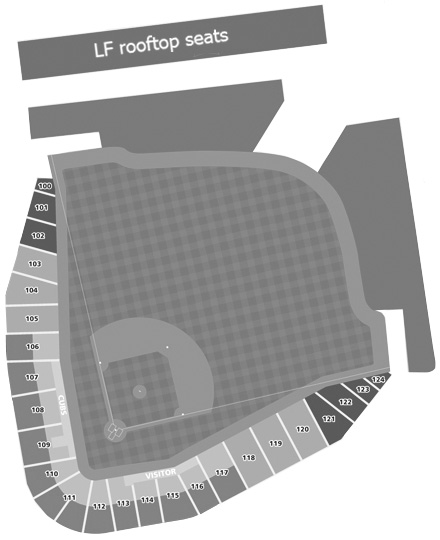 Sloan Park seating diagram