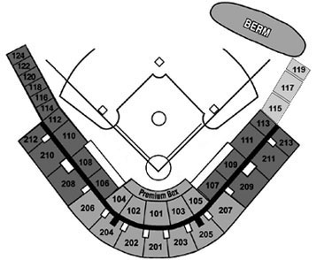 Tradition Field seating diagram