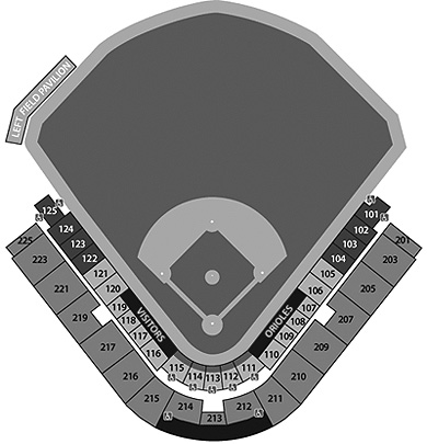 Ed Smith Stadium seating diagram