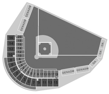 Fort Lauderdale Stadium seating diagram