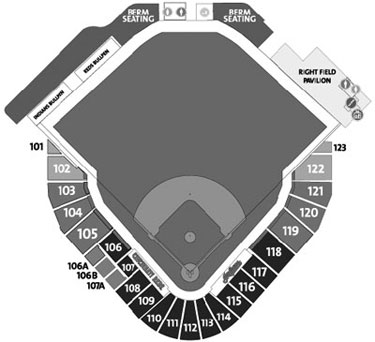 Goodyear Ballpark seating diagram