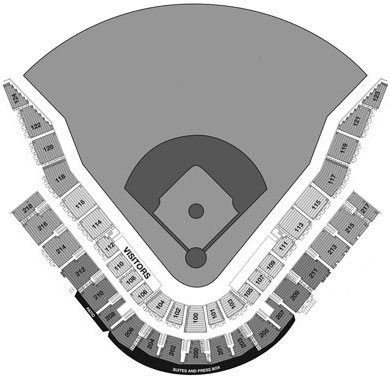 Hohokam Stadium seating diagram
