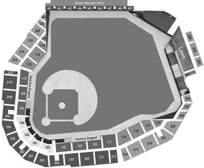 JetBlue Park seating diagram