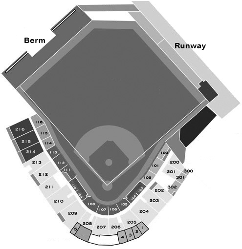 Joker Marchant Stadium seating diagram