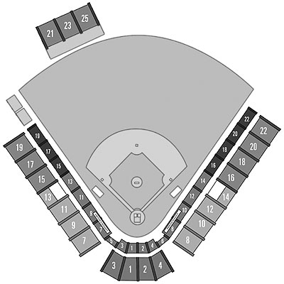 McKechnie Field seating diagram