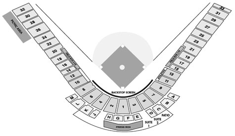 Phoenix Muni seating diagram