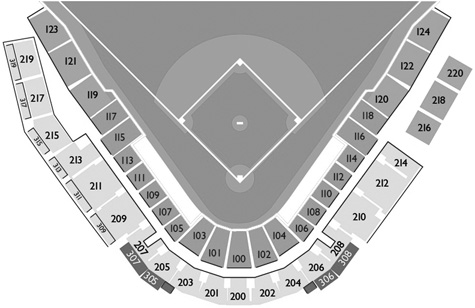 Peoria Sports Complex seating diagram
