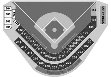 Roger Dean Stadium seating diagram