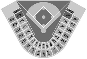 Steinbrenner Field seating diagram