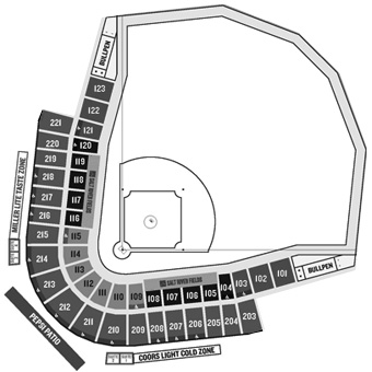 Salt River Fields seating diagram