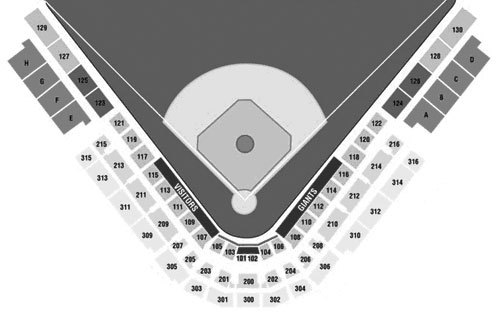 Scottsdale Stadium seating diagram