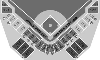 Surprise Stadium seating diagram