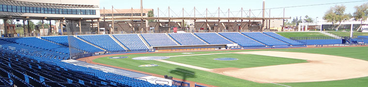 Empty spring training ballpark