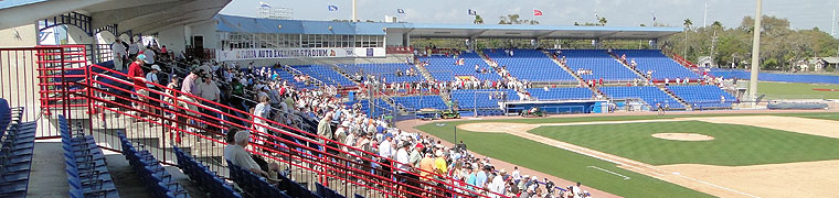 Fans file out of the stadium in Dunedin