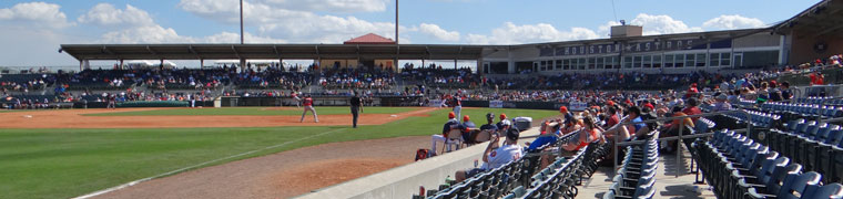 Osceola County Stadium, as seen during Astros spring training